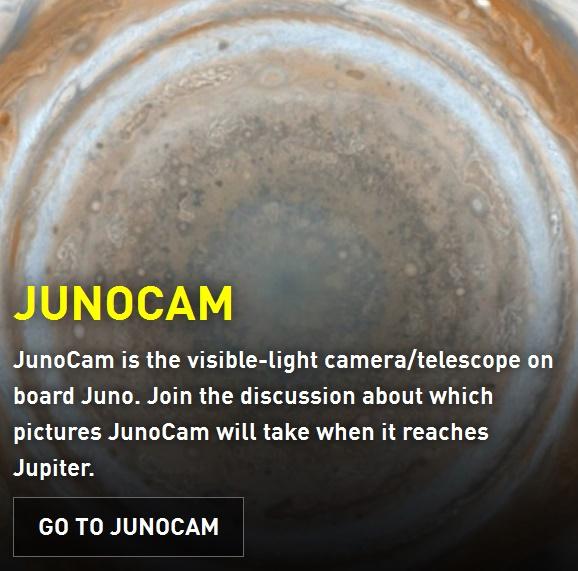 ジュノー搭載のカラーカメラ「JunoCam」の動画と技術資料