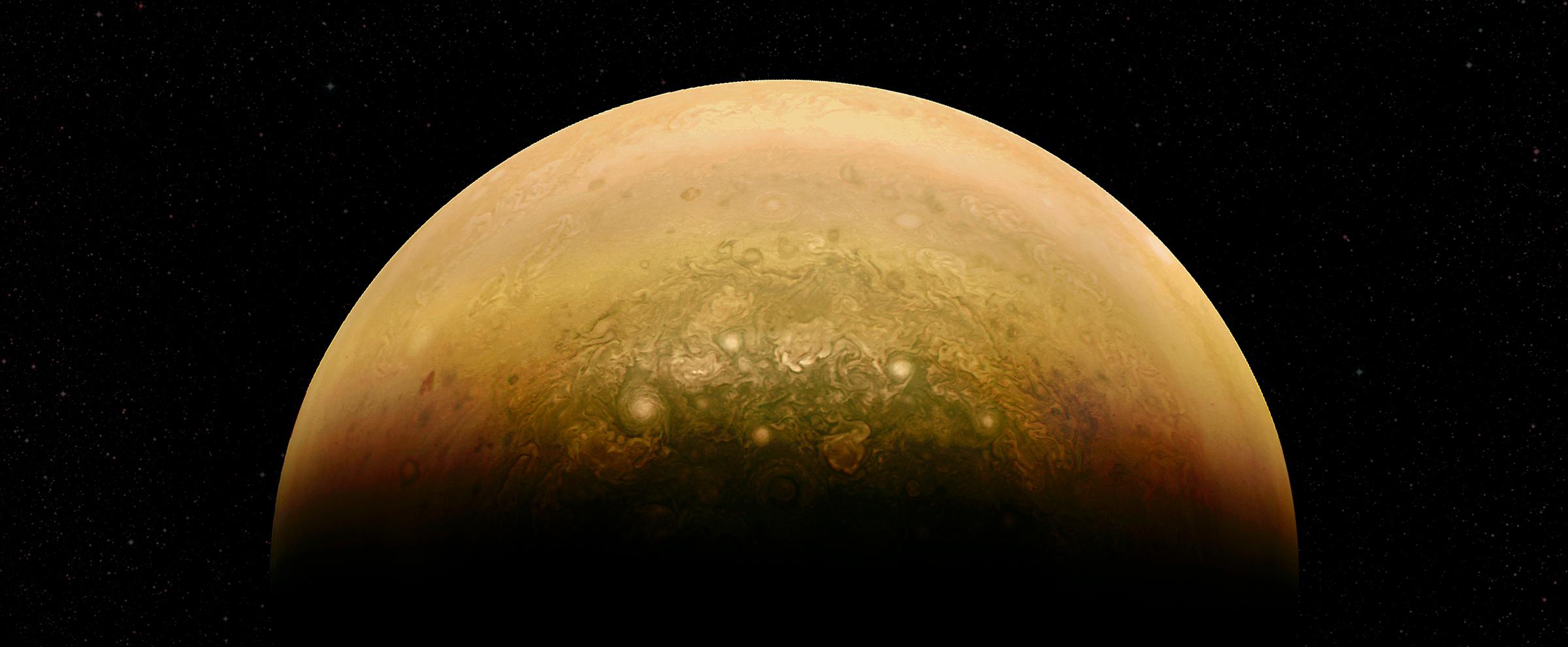 木星の南極の最新超高解像度画像が公開