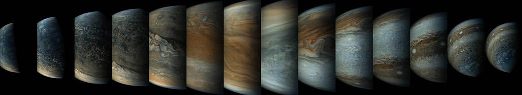 2017.05.26:ジュノー探査機の木星接近の模様