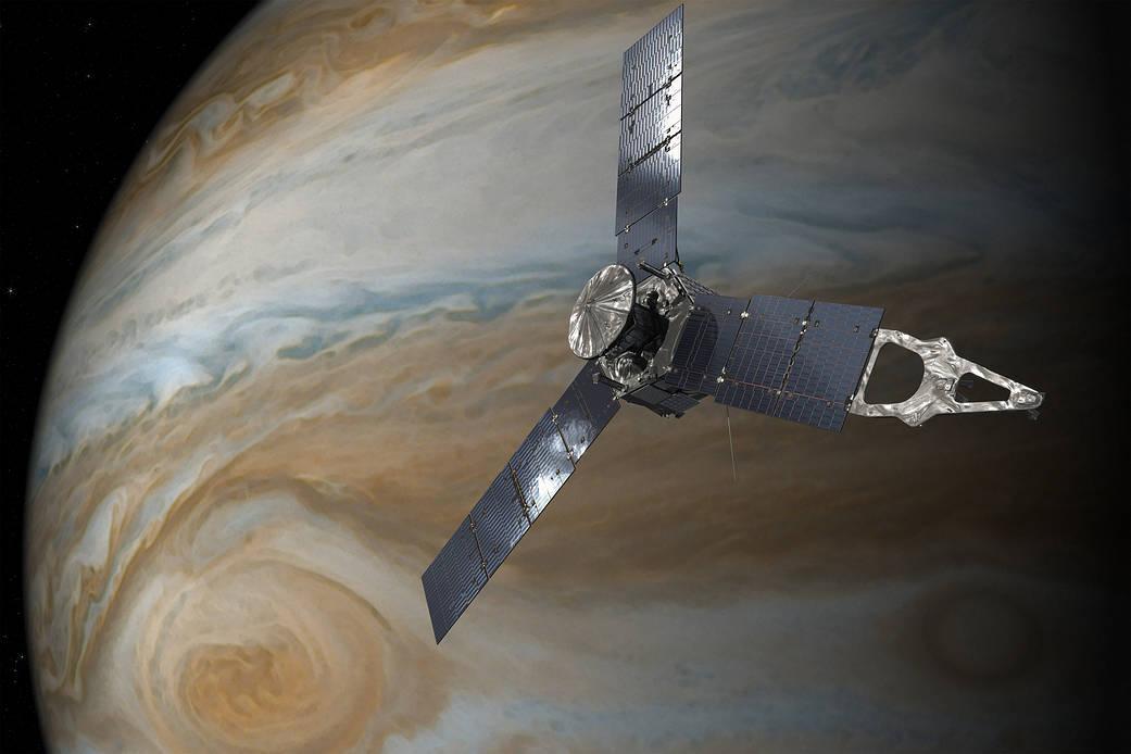 2017年7月10日 NASAの木星探査機ジュノーの大赤斑の近接観測成功!