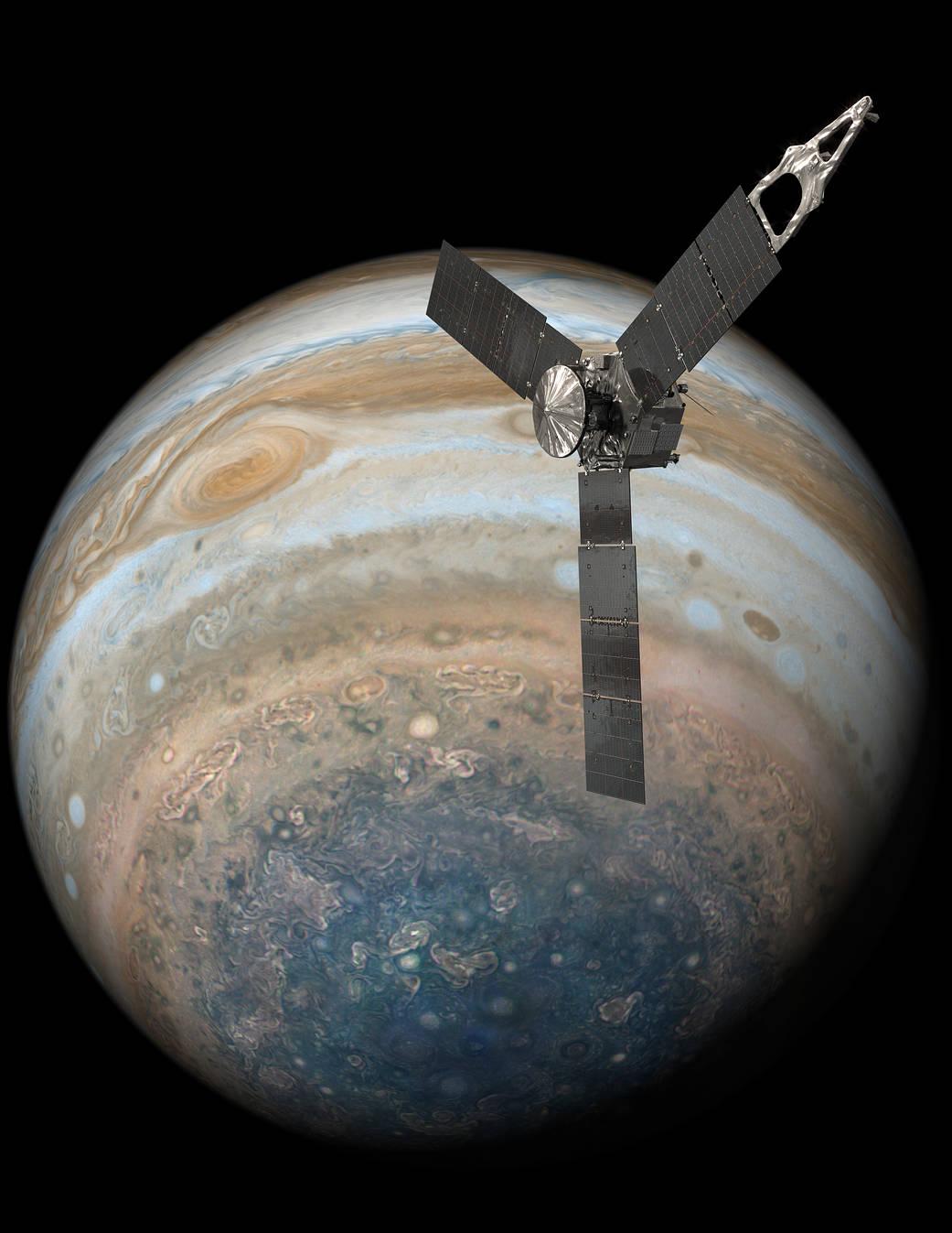 2017.08.04:木星の北極に巨大な嵐!